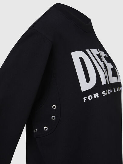 Diesel - F-ANG, Black/White - Sweaters - Image 4