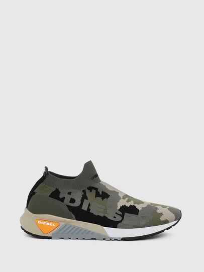Diesel - S-KB ATHL SOCK II, Green Camouflage - Sneakers - Image 1
