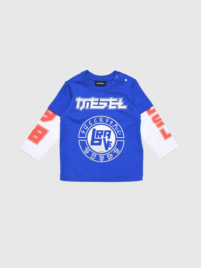 Diesel - TUCOB, Blue/White - T-shirts and Tops - Image 1
