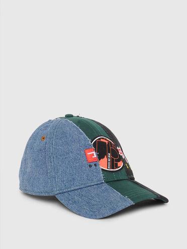 Baseball cap with patchwork design