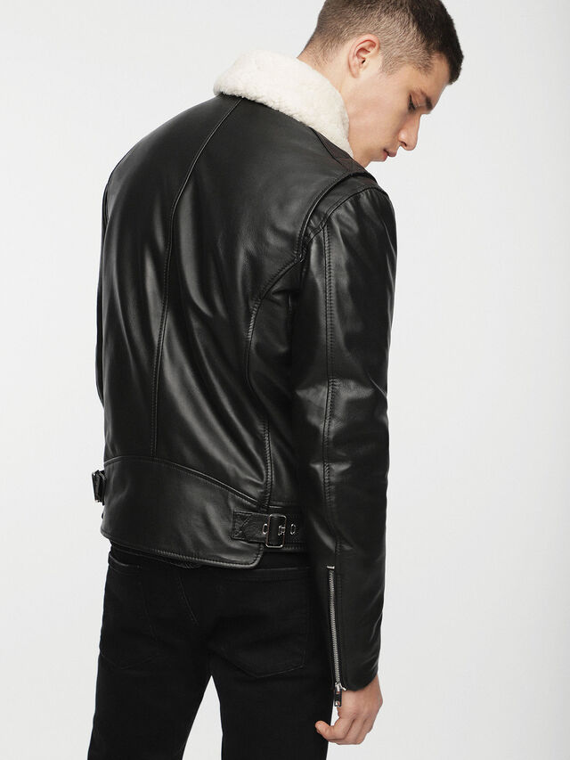 Diesel - L-NED, Black - Leather jackets - Image 2