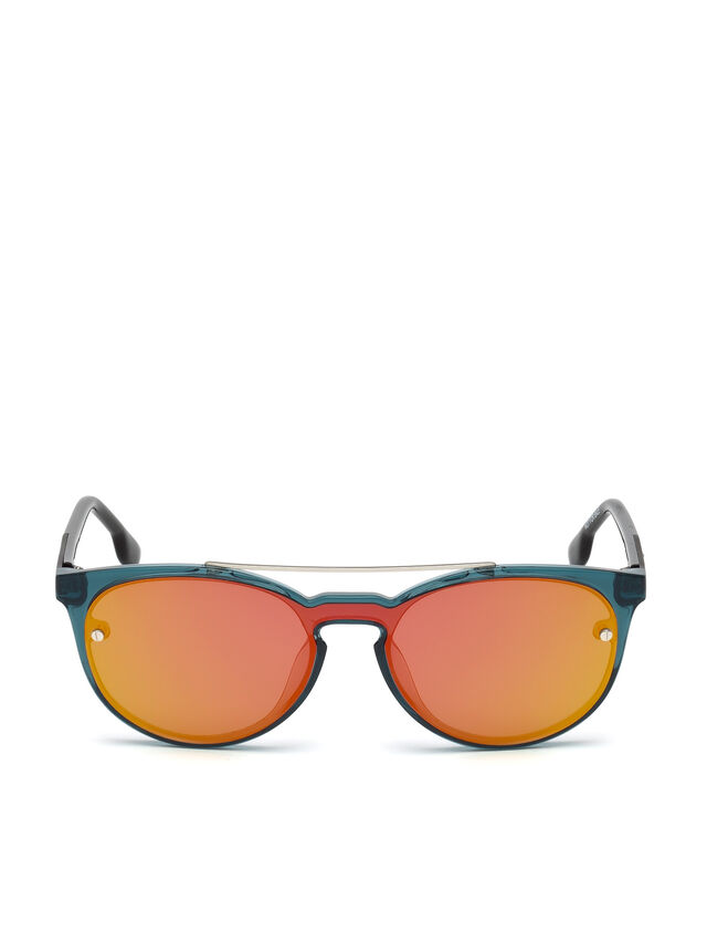 Diesel - DL0216, Blue/Orange - Eyewear - Image 1