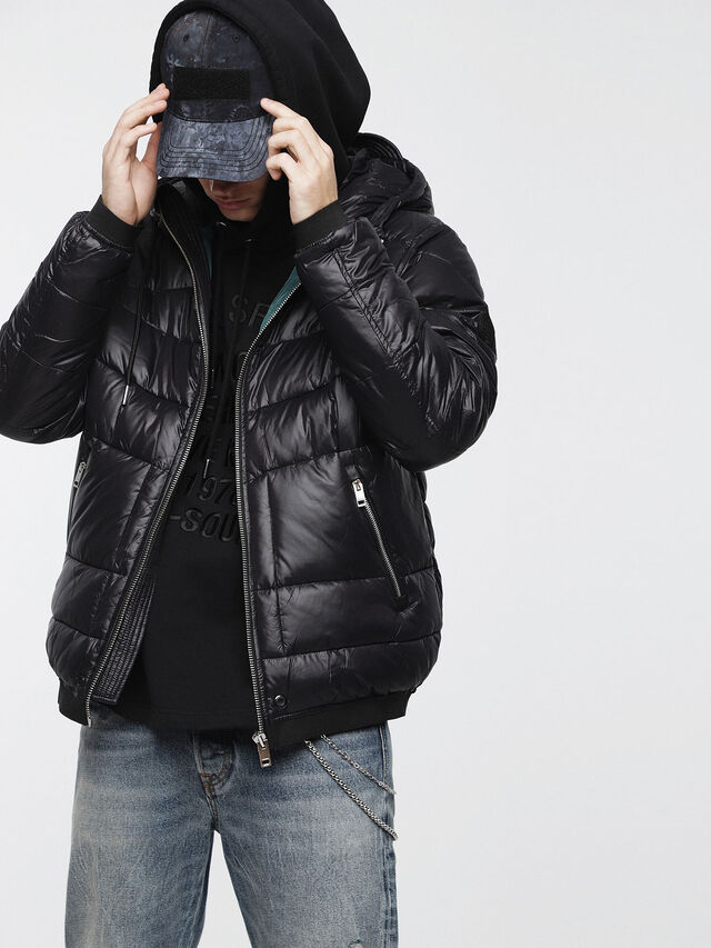 Diesel - W-GARRETT, Black - Winter Jackets - Image 1