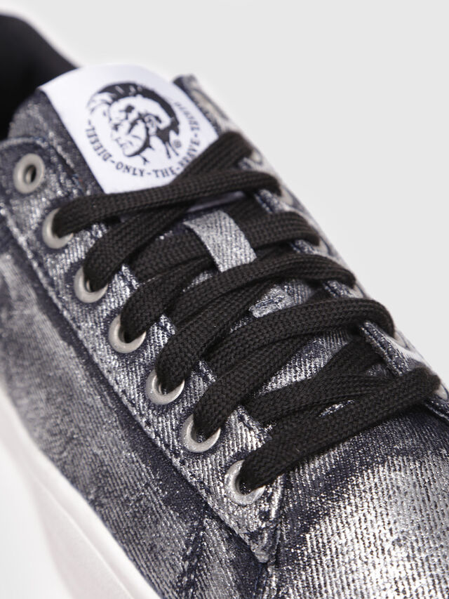 Diesel - S-CLEVER LOW W, Grey Jeans - Sneakers - Image 5