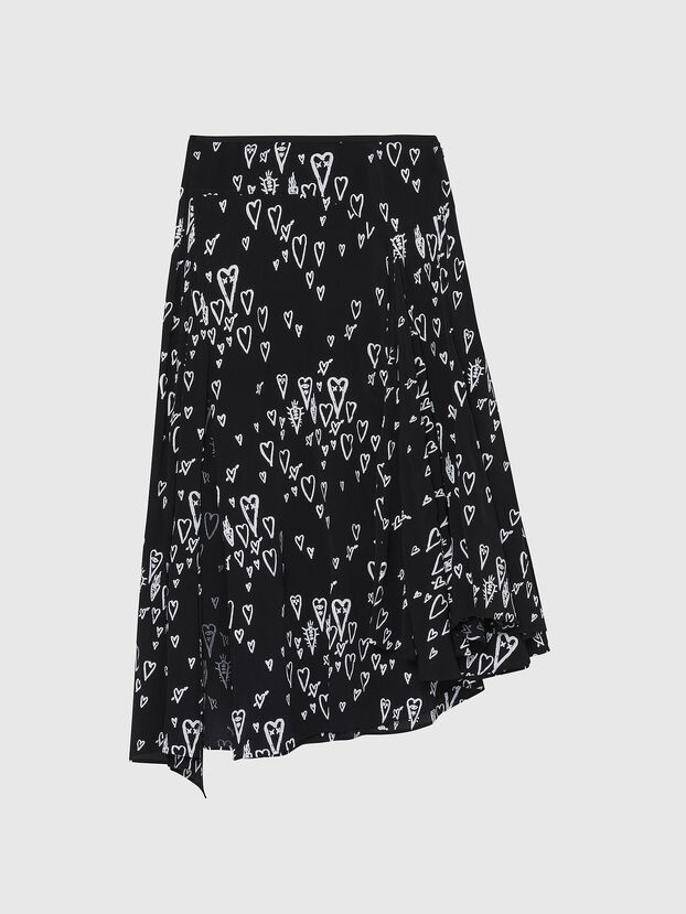 O-SPRING-LONG, Black - Skirts