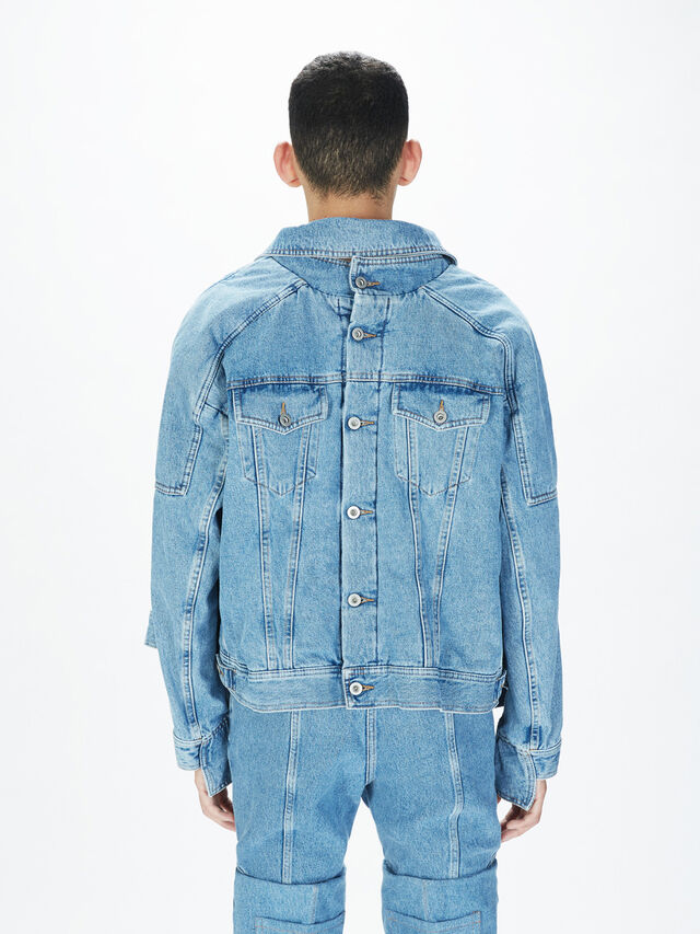 Diesel - SOJK01, Light Blue - Jackets - Image 4