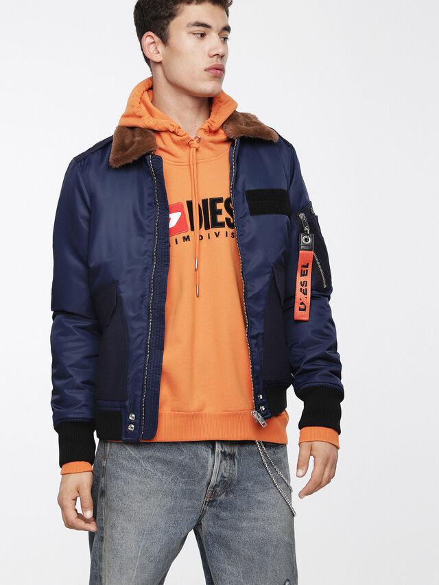 Diesel - W-SLOTKIN, Blue - Winter Jackets - Image 1