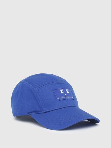 Baseball cap with emoji patch