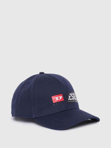 Baseball cap with double logo