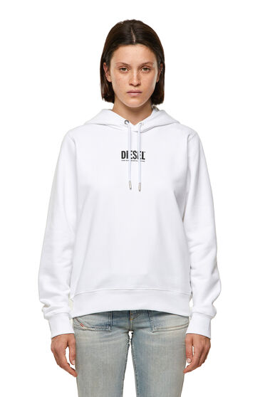 Green Label hoodie with logo print