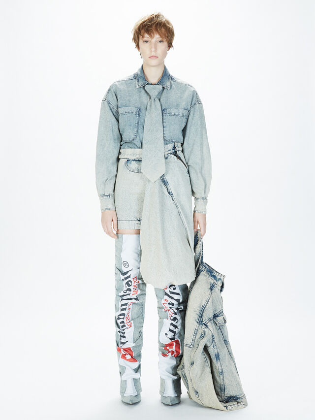 Diesel - SOHIGHBOOT, Grey Jeans - Boots - Image 6