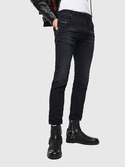 Diesel - Krooley JoggJeans 069KJ, Black/Dark grey - Jeans - Image 1