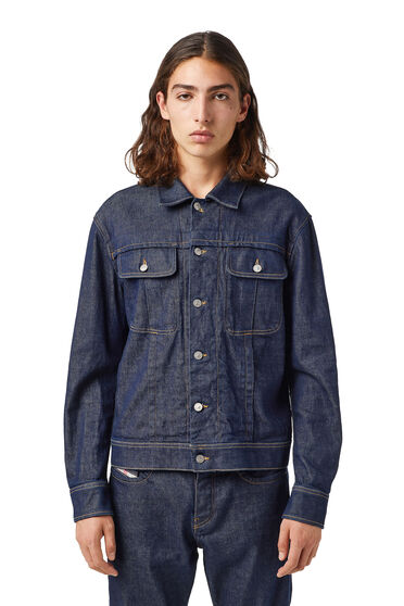 Trucker jacket in Candiani Coreva™ organic cotton
