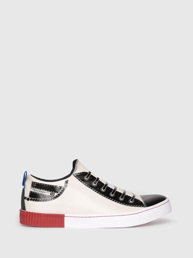 Diesel - S-DIESEL IMAGINEE LOW, White/Black - Sneakers - Image 1