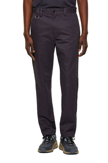 Chinos with ankle slits