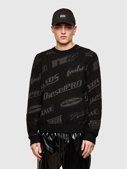 Diesel - K-NICKEL, Black - Knitwear - Image 1
