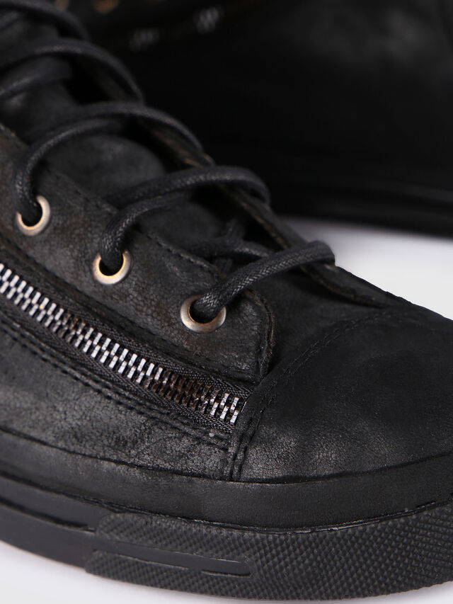 Diesel - EXPO-ZIP, Black Leather - Sneakers - Image 6