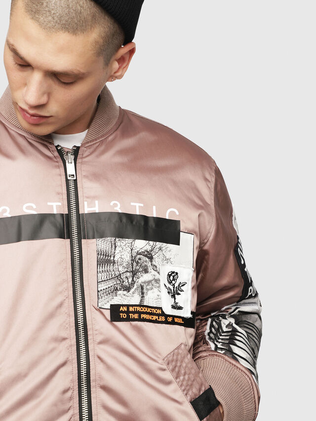 826633b86 J-TAMIE Men: Reversible satin bomber jacket | Diesel