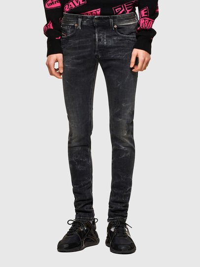 Diesel - Sleenker 009QA, Black/Dark grey - Jeans - Image 1