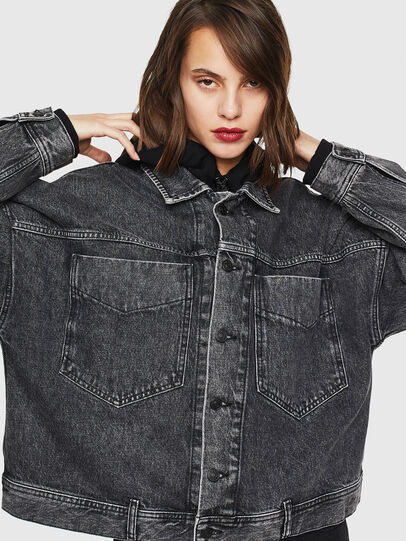 Diesel - DE-JALA, Black/Dark grey - Denim Jackets - Image 1