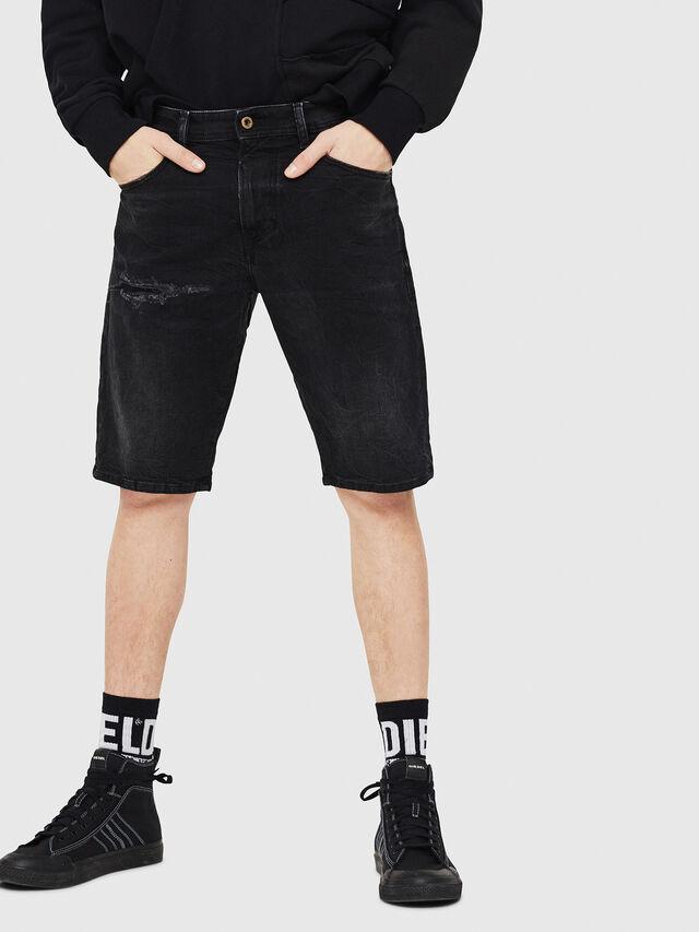 Diesel - THOSHORT, Black - Shorts - Image 1