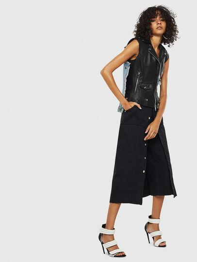 Diesel - L-WELLS, Black Leather - Leather jackets - Image 8