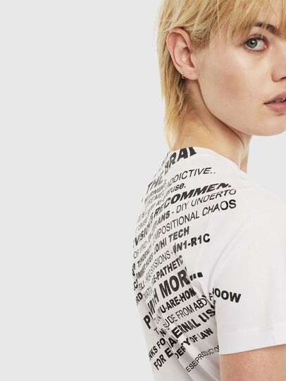 Diesel - T-SILY-S1, White - T-Shirts - Image 3
