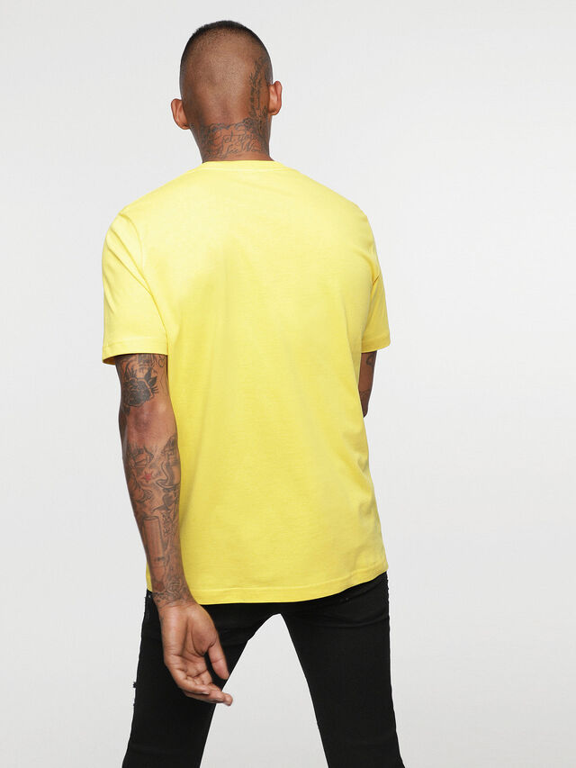 Diesel - HC-T-JUST-DIVISION-B, Yellow - T-Shirts - Image 5