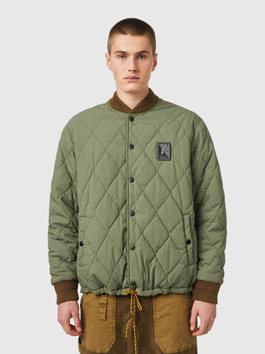 Reversible quilted coach jacket