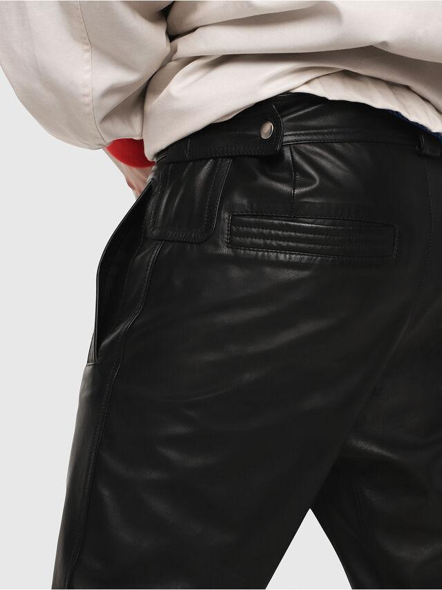Diesel - P-ARDON, Black Leather - Pants - Image 4