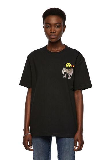 T-shirt with emoji graphics