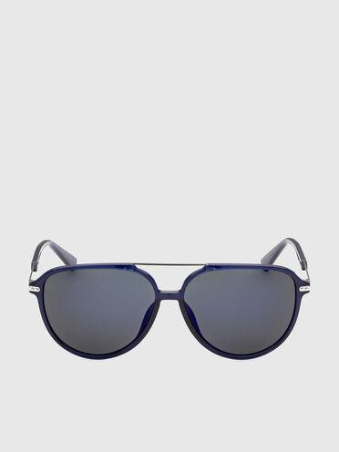Pilot sunglasses on a combo construction