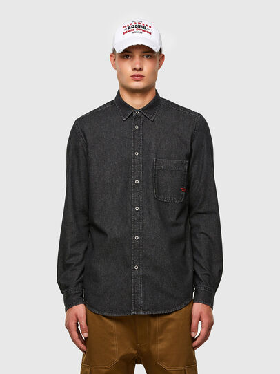 Diesel - D-BILLY, Black - Denim Shirts - Image 1