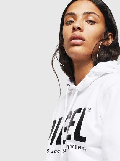 Diesel - F-GIR-HOOD-DIV-LOGO-, White - Sweaters - Image 3