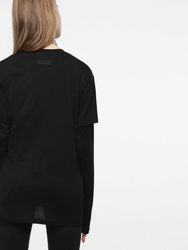 Diesel - T-DARIA-C, Black/Pink - T-Shirts - Image 2