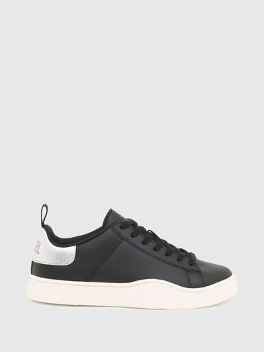 Low-top sneakers with metallic back tab