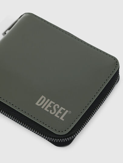 Diesel - HIRESH XS ZIPPI, Military Green - Zip-Round Wallets - Image 4