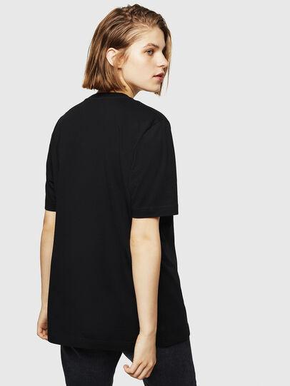 Diesel - T-JUST-DIVISION-D-FL, Black - T-Shirts - Image 2