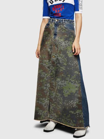 Diesel - DE-SHIRLEY, Medium blue - Skirts - Image 1