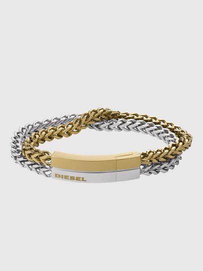 Diesel - DX1262, Gold/White - Bracelets - Image 1