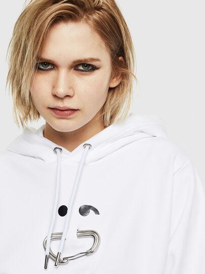 Diesel - F-ANG-HOOD-S1, White - Sweaters - Image 3
