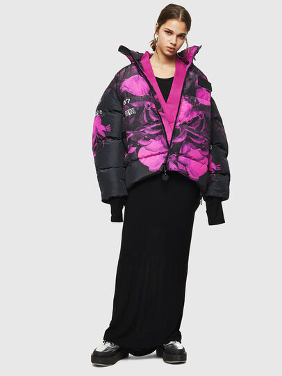 Diesel - W-PIATIGGY, Black/Pink - Winter Jackets - Image 6