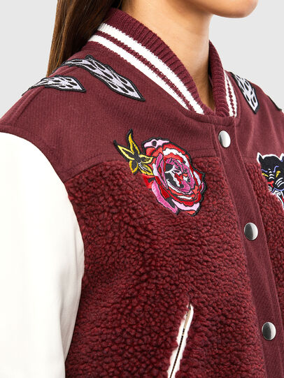 Diesel - L-KOLT, Violet - Leather jackets - Image 5