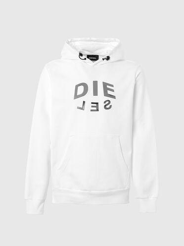 Hoodie with DIE-SEL logo print