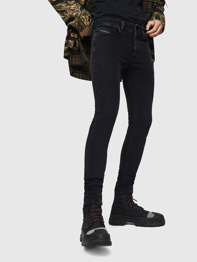Diesel - Sleenker 0870G, Black/Dark grey - Jeans - Image 1