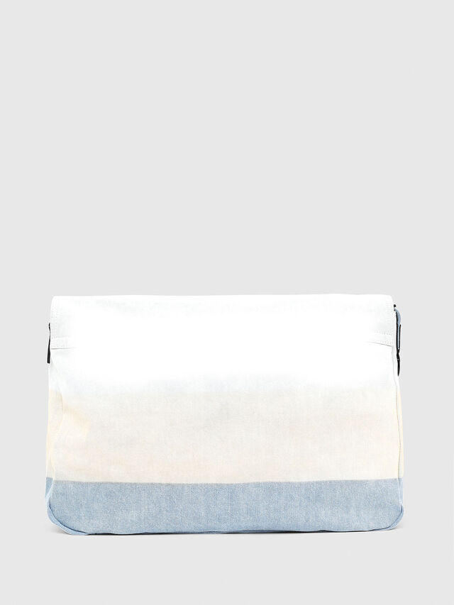 Diesel - D-THISBAG MESSENGER, Blue/White - Crossbody Bags - Image 2