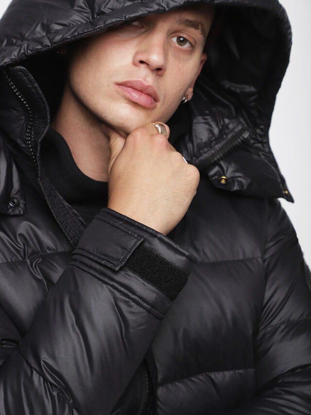 Diesel - W-SMITH-A, Black - Winter Jackets - Image 3