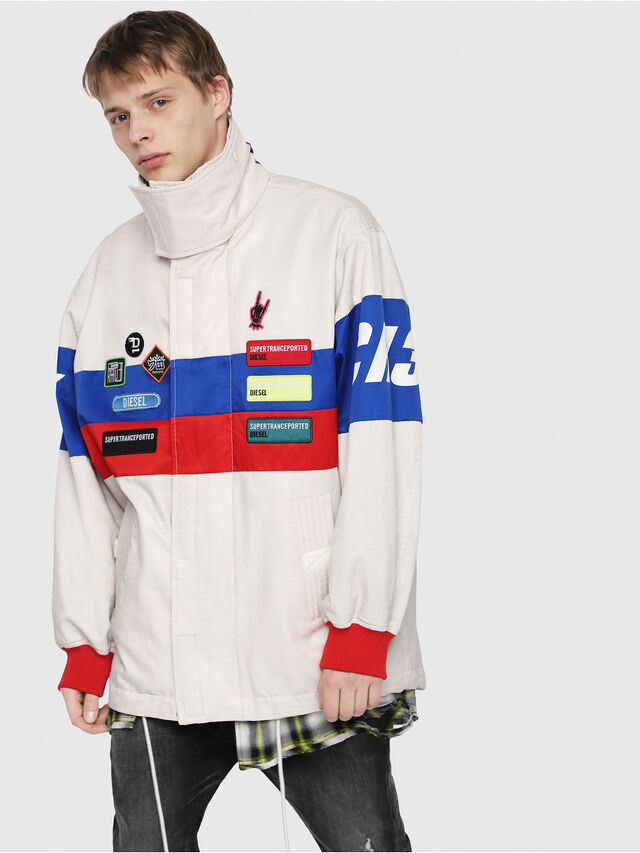 Diesel - J-AZUMA, Multicolor/White - Jackets - Image 1