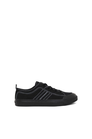 Low top sneakers in bicolour canvas