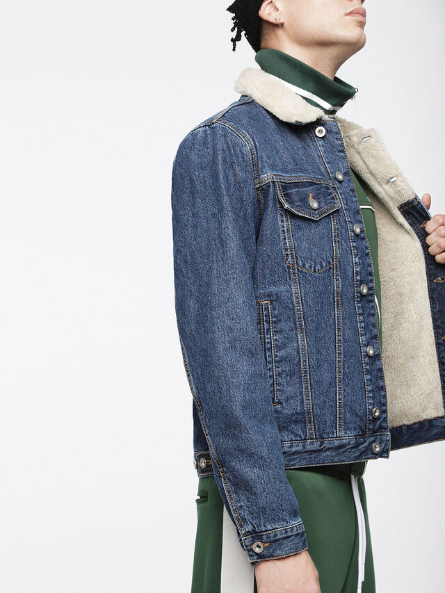 Diesel - D-GIOC-FUR, Blue Jeans - Winter Jackets - Image 3